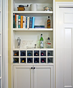 Martini Shaker Photos - Built In Shelving And Wine Rack by Francis Zera