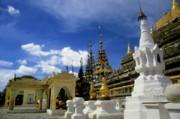 Built Structures Inside Shwezigon Pagoda Print by Sami Sarkis