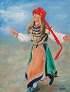 Girls Framed Prints - Bulgarian Dancer Framed Print by Joni McPherson