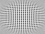 Optical Illusion Art - Bulge Dots by Michael Tompsett
