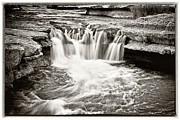 Water Falling Down Rocks Framed Prints - Bull Creek Water Run Framed Print by Lisa  Spencer