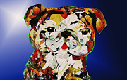 Abstract Bull Originals - Bull Dog by Julie Hiskett