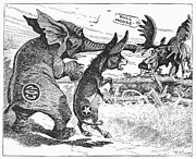 Caricature Art - Bull Moose Campaign, 1912 by Granger