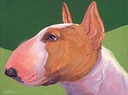 English Bull Terrier Posters - Bull Terrier Poster by Shawn Shea