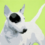 Abstract Dogs Paintings - Bull Terrier by Slade Roberts