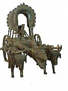 Tribal Art Sculptures - Bullak Cart by Govind Zara