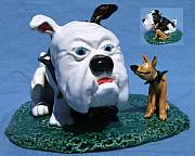 Small Statue Ceramics - Bulldog and Buddy by Bob Dann