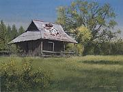 Egg Tempera Prints - Bulldog Country Print by Peter Muzyka