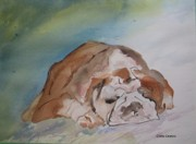 Animal Lover Paintings - Bulldog by Gloria Couture