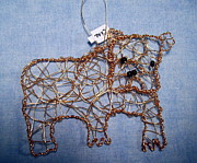 Dog  Sculpture Prints - Bulldog ornament Print by Charlene White