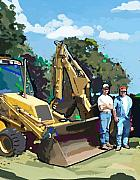 Bulldozers Framed Prints - Bulldozer Guys Framed Print by Brad Burns
