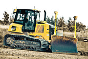 Bulldozers Framed Prints - Bulldozer Framed Print by Michel Soucy