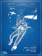 Sea Battle Art - Bulletproof Patent Artwork 1968 Figure 14 by Nikki Marie Smith