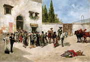 Social Paintings - Bullfighters preparing for the Fight  by Vicente de Parades