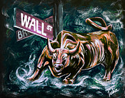 Wall Street Art - Bullish Market by Teshia Art