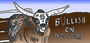 Editorial Cartoon Mixed Media - Bullish on Dollars by OptionsClick BlogArt