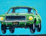 Mustang Paintings - Bullitt Mustang by Mitchell McClenney