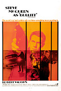 1960s Poster Art Photos - Bullitt, Steve Mcqueen, 1968 by Everett