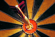 Board Photo Posters - Bulls eye Poster by John Greim