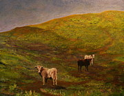 Trish Campbell - Bulls on Figueroa Mt.