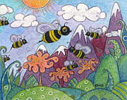Buzz Prints - Bumble Bee Buzz Print by Tanielle Childers