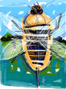 Buzzing Framed Prints - Bumble Bee Framed Print by Russell Pierce