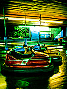 Amusement Parks Posters - Bumper Cars Poster by Colleen Kammerer