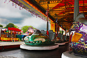 Terri Waters Framed Prints - Bumper Cars Framed Print by Terri  Waters