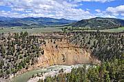 Yellowstone Park Prints - Bumpus Butte Yellowstone Print by Bruce Gourley
