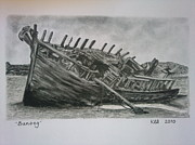 Oars Drawings Prints - Bunbeg Print by Kathryn Sharkey