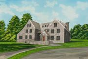 Fraternity Painting Prints - Bunch House Print by Charlotte Blanchard