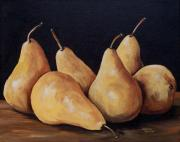 Torrie Smiley Metal Prints - Bunch Of Bosc Pears  Metal Print by Torrie Smiley