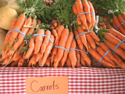 Food And Beverage Pyrography Metal Prints - Bunch of carrots Metal Print by Hiroko Sakai