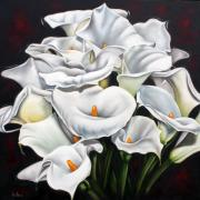 Lilies Sculpture Metal Prints - Bunch of Lilies Metal Print by Ilse Kleyn