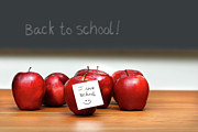 Classroom Prints - Bunch of red apples Print by Sandra Cunningham