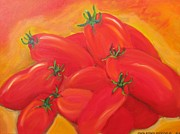 Italian Kitchen Paintings - Bunch of Tomatoes by Dani Altieri Marinucci