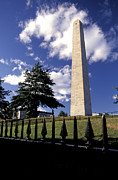 Obelisk Framed Prints - Bunker Hill Monument In Charlestown Framed Print by Richard Nowitz