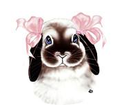 Bunny Print by Elaine VanWinkle