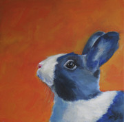 Bunny Paintings - Bunny by Julie Dalton Gourgues