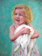 Rabbit Pastels - Bunny Love by Kathy Wood