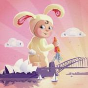 Born Posters - Bunny Mae Poster by Simon Sturge