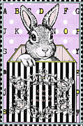 2012 Mixed Media - Bunny Rabbit Juvenile Licensing Art by Anahi DeCanio
