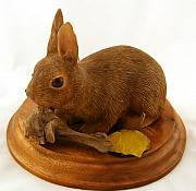 Carving Sculptures - Bunny by Ron Rodgers