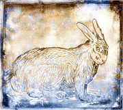 Golden Brown Prints - Bunny Van Gogh Print by Carol Leigh