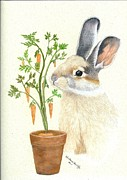 Decorating Drawings - Bunnys Carrot Tree by Karolann Hoeltzle