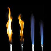 Combustion Posters - Bunsen Burner Flame Sequence Poster by