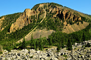 Yellowstone Metal Prints - Bunsen Peak Metal Print by Greg Norrell