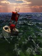 Diversity Digital Art - Buoy 14 by Williem McWhorter