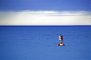 Bass Harbor Prints - Buoy off Bass Harbor Head Print by Rick Berk