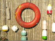 Fine Art Prints Photos - Buoys and Life Preserver by Todd Breitling